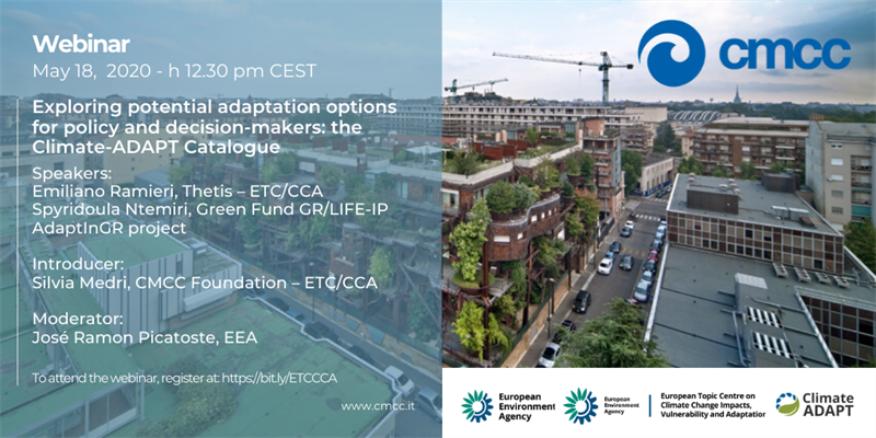 The LIFE-IP AdaptInGR in the webinar «Exploring potential adaptation options for policy and decision...